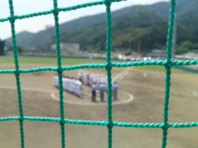 第58回岩手県中学校総合体育大会気仙地区予選決勝戦の試合 開始前。