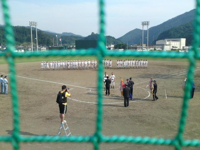第58回岩手県中学校総合体育大会軟式野球競技優勝、大船渡市立大船渡中学校の皆さんです。