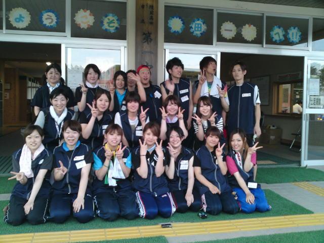 日本赤十字秋田看護大学、短期大学混成チームの皆さんです。