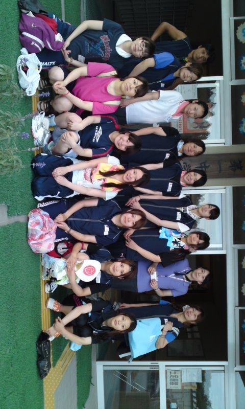 日本赤十字秋田看護大学、短期大学混成チーム第七陣目の皆さんです。