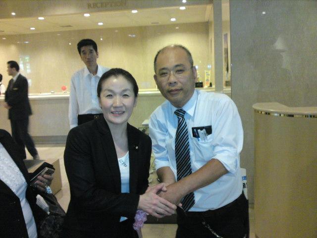 谷亮子参議院議員と私です。