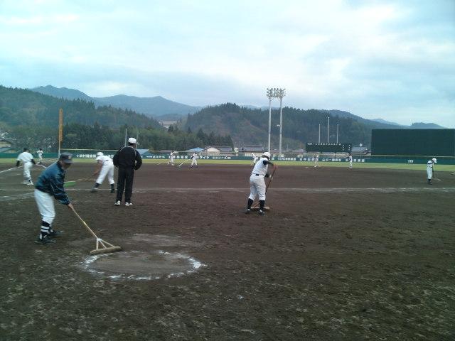 今日の住田町運動公園球場の様子です。