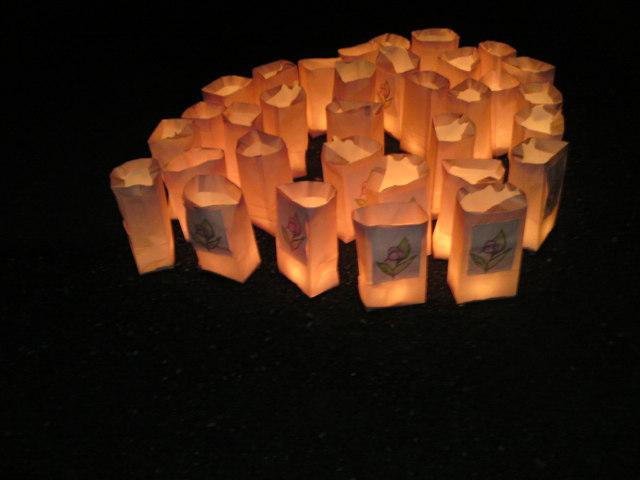キャンドルの灯かり